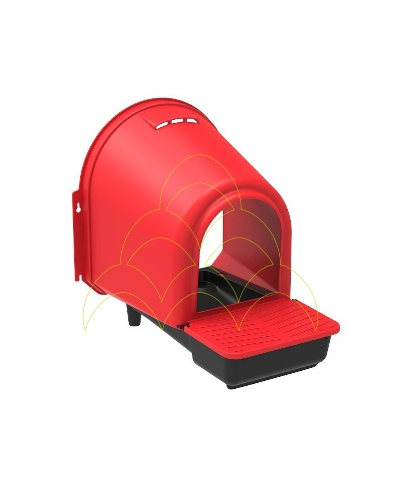Nesting box for chickens 1 compartment plastic - inside
