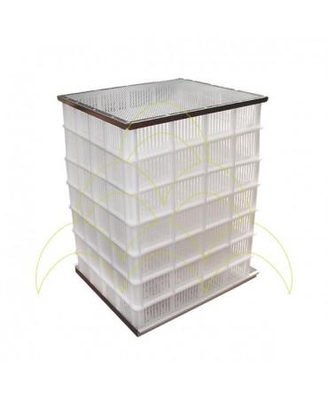 FIEM MG 1000S Maxi Pro - LCD Display: Pilha de bandejas em plástico para eclosão de ovos