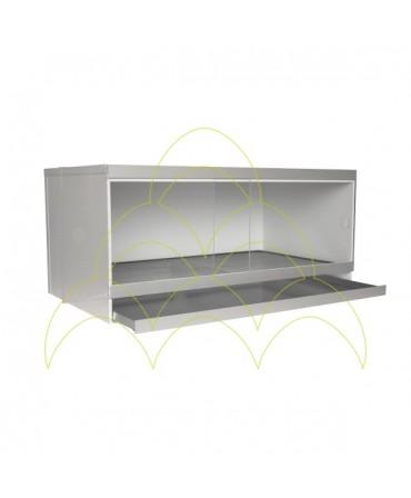 Criadeira Domestic Basic: Porta e tabuleiro abertos