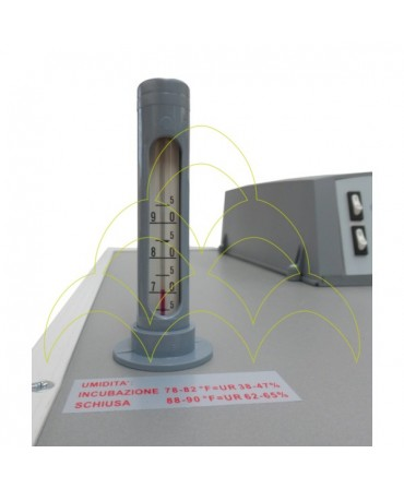 FIEM MG 140/200 Auto - LCD Display: Higrómetro de Bulbo Húmido