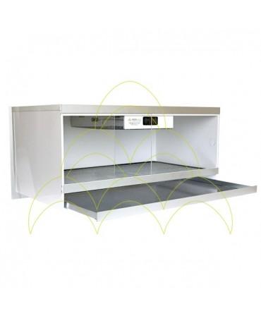 Criadeira Domestic Plus: Porta e tabuleiro abertos