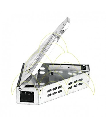 Walk-in Multiple Mousetrap - 90° - Galvanized: With lid open