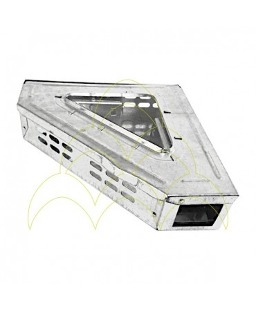 Walk-in Multiple Mousetrap - 90° - Galvanized: With lid closed