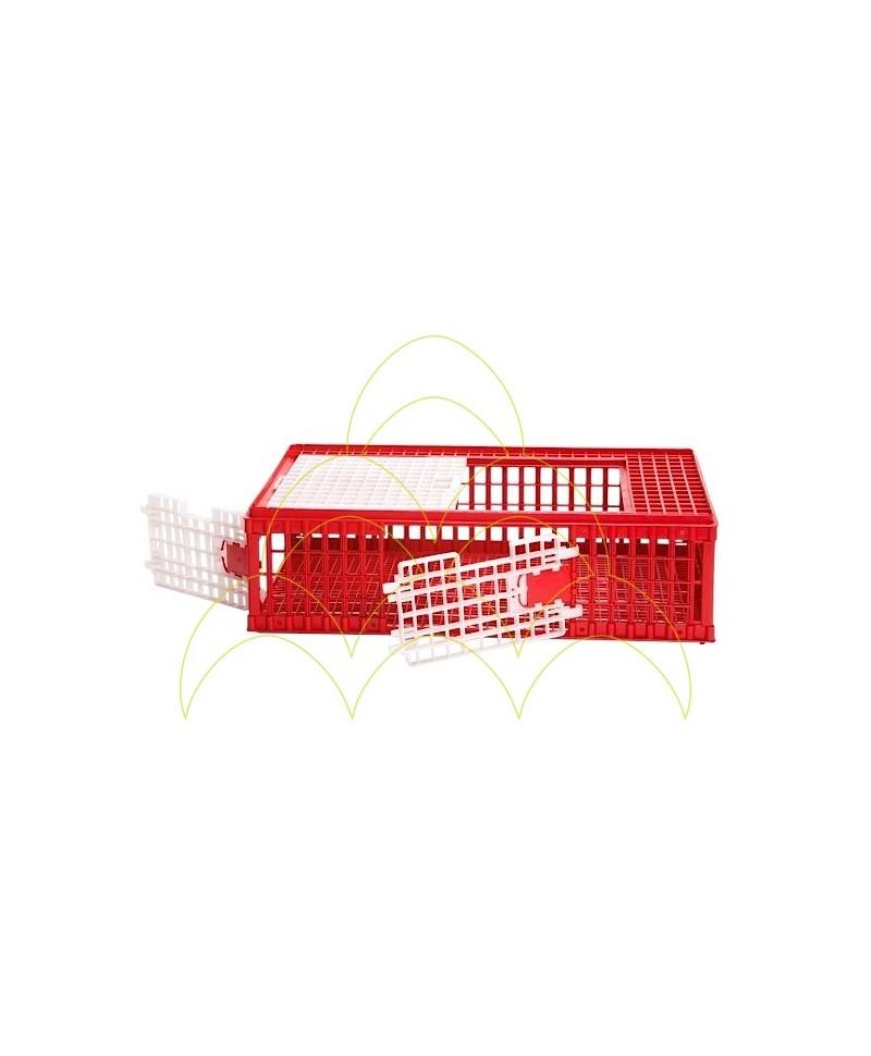 Jaula de Transporte - 3 Aberturas - Para Aves