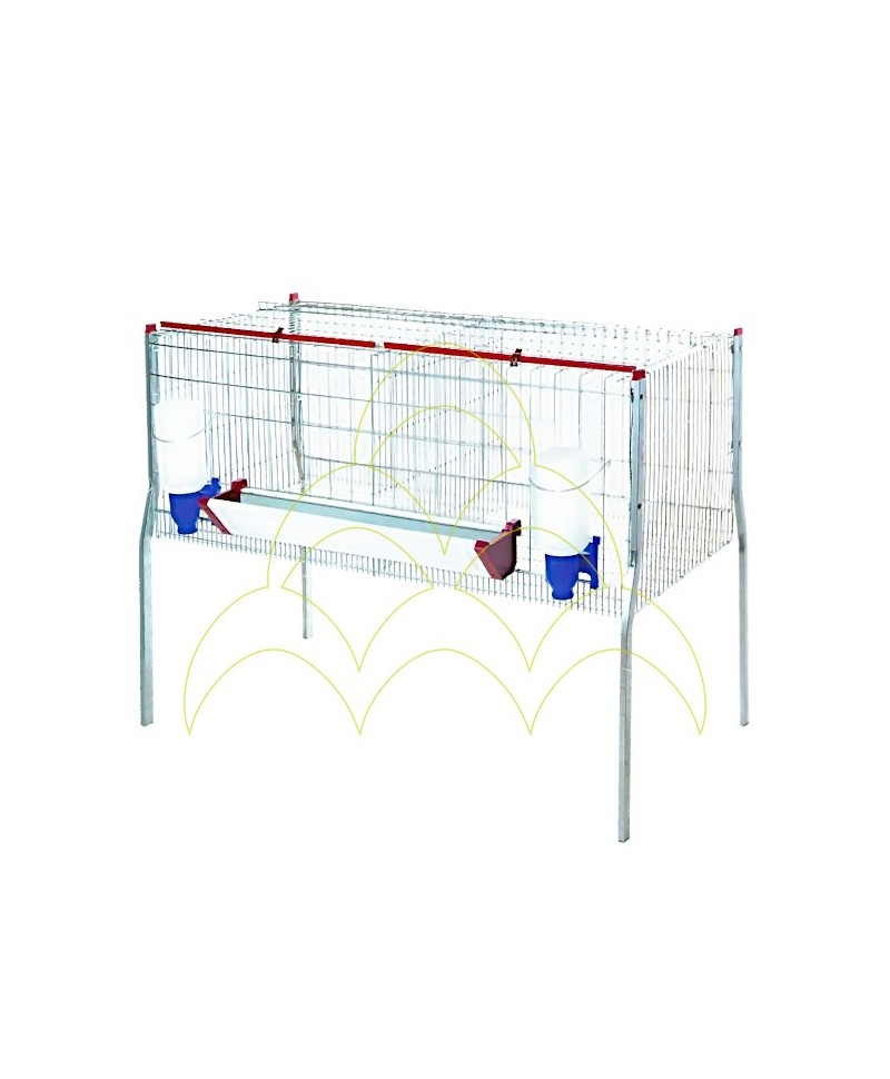 Cage - 2 Compartments/ 1 Level - For Broilers