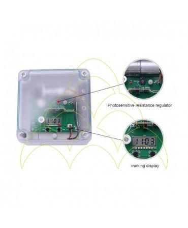 Componentes do KIT - Abertura de Porta Automática ECO - Para Galinheiros: dispositivo electrónico