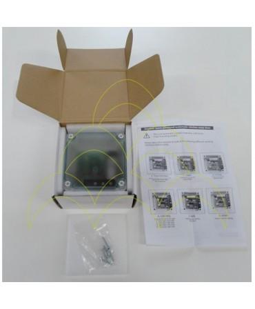 Componentes do KIT - Abertura de Porta Automática ECO - Para Galinheiros: embalagem da caixa do dispositivo electrónico