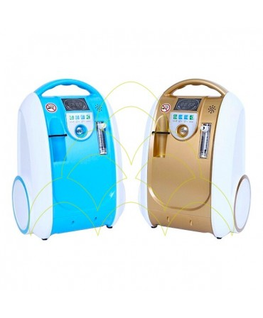 Concentrador de Oxigénio Portátil - 5L: Cores azul e castanha