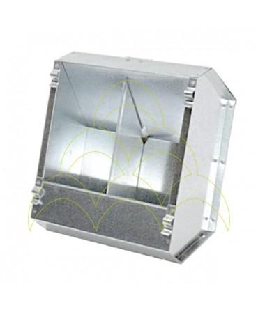 Comedouro - 2 Compartimentos 1+1kg - Com Tampa - Chapa