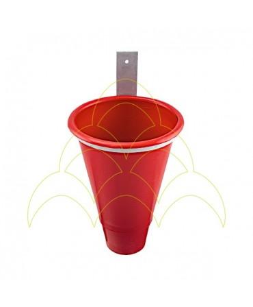 Funil Sangrador Com Suporte - Pequeno - Plástico