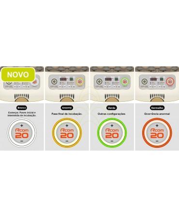 Rcom Max 20 DO: Botão de navegação rotativo; Descrição da luz ambiente;