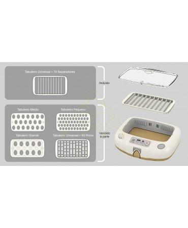 Rcom Max 20 DO: Tabuleiro Universal + 10 separadores; Tabuleiros Pequeno, Médio, Grande; e tabuleiro Universal com Kit de Rolos