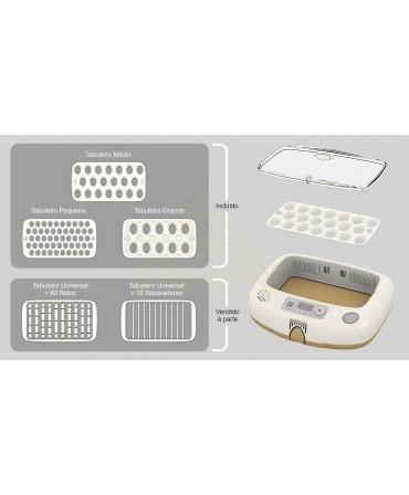 Rcom Pro 20 DO: Tabuleiro Universal + 10 separadores; Tabuleiros Pequeno, Médio, Grande; e tabuleiro Universal com Kit de Rolos