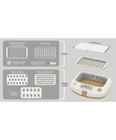 Rcom Max 20 DO - Kit Exotic: Tabuleiro Universal + 10 separadores + Kit 10 Rolos + Termómetro + Higrómetro;