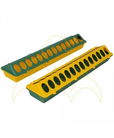 Comedouro Rectangular - 50cm - 1ª Idade - Plástico