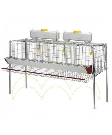 Jaula para Galinhas Poedeiras: 3 compartimentos e 1 nível