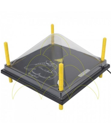 Cobertura de plástico para placa de aq. 40x40