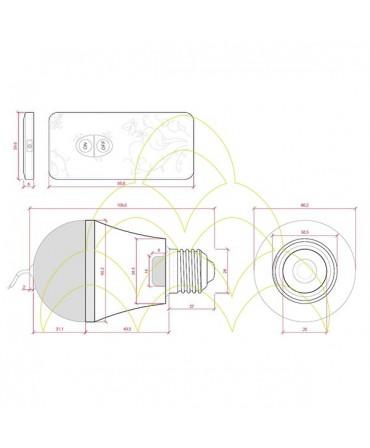 IONIZADOR - Lâmpada LED E27 5W: Desenho Técnico