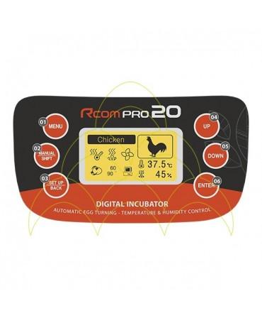 Rcom 20 Pro com Kit de Rolos: Interface