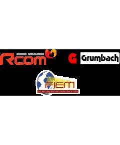 Logótipos Rcom, Grumbach e Fiem